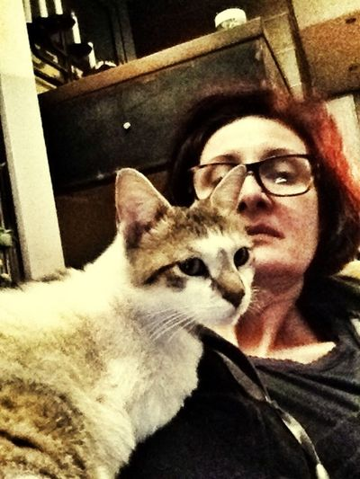 Me And My Cat Pets Relaxing Rina:)