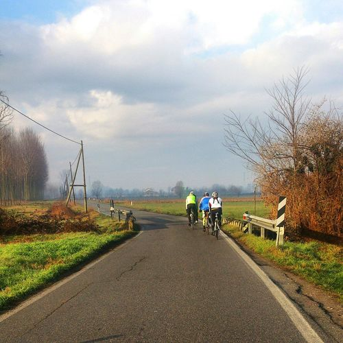Riding Bike in a Beatiful Landscape in the Nature Bicycle Sport . Enjoying Nature Winter Winter Colors My Best Photo 2015