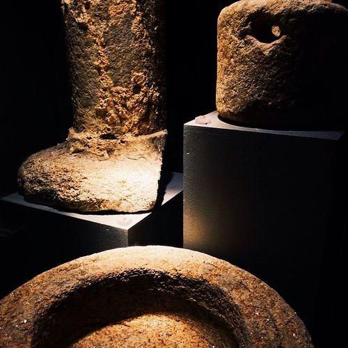 Spotlight on the remains Restos TheRomans Lugo Galicia España