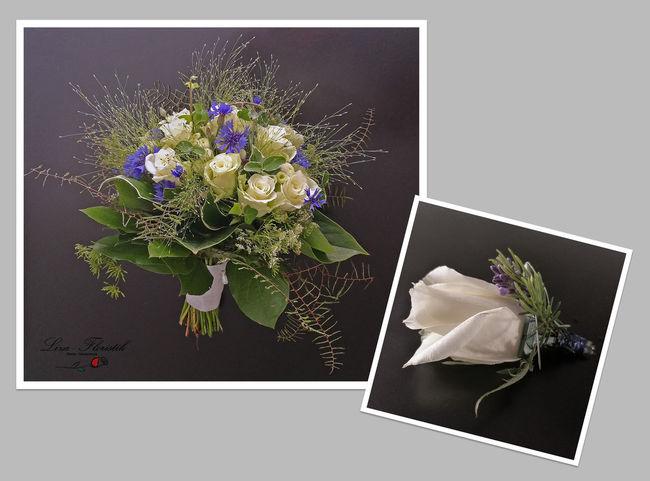 Brautstrauss Flower Bouquet Wedding Hochzeit Anstecker rose
