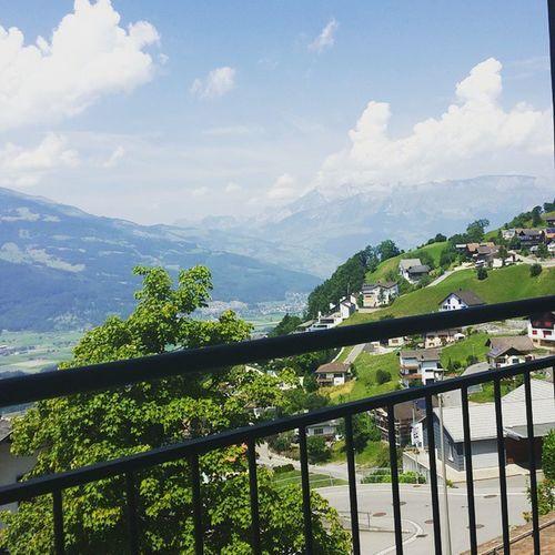 Liechtenstein Vaduz Mountains Austria Switzerland Germany Alps Nature Dinner View Summer Sun LastDay Restaurant Beautiful