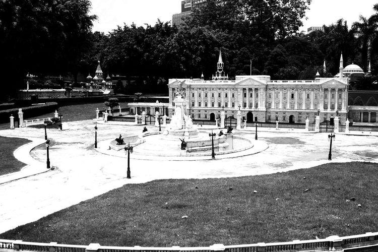 Architecture Black And White Buckingham Palace Miniature Palace Photography Shenzhen Window Of The World