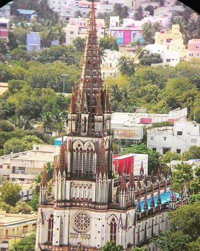 Road trip through Tiruchirapalli- St. Lourde's Church, Tiruchirapalli Roadtrip Stlourdes Church Tiruchirapalli Bikeride Exploring South Beautiful Structure Churches Of Southindia