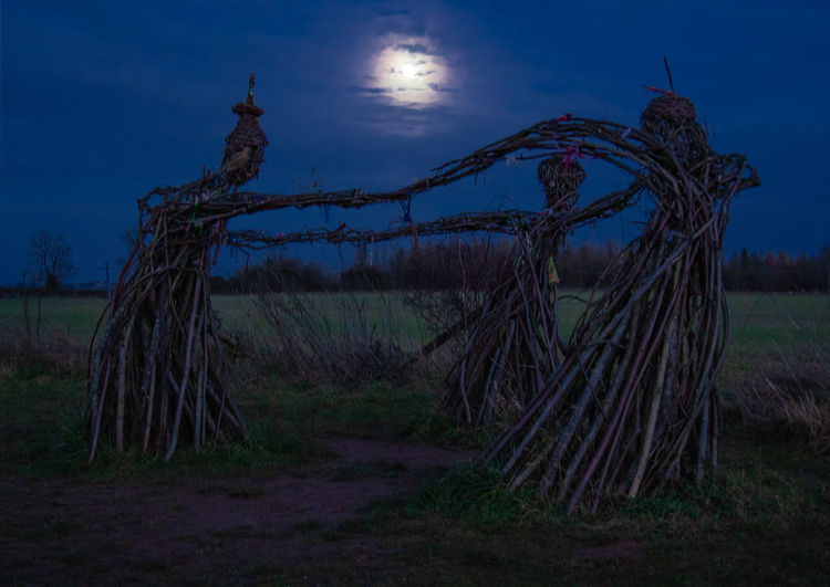 No People Cloud - Sky Tranquil Scene Moon Witches Winter Solstice Nighr Outdoors Wicker