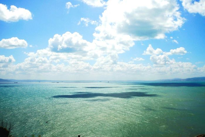 Sea Blue Water Sky Horizon Over Water Beach Landscape Nature Sand Outdoors Vacations Idyllic Tranquility Cloud Sunshine Summer Turquoise Water Tunisia