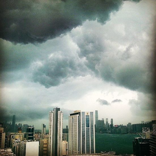 Crazy Storm Clouds this afternoon in HongKong Hk after such a lovely morning!