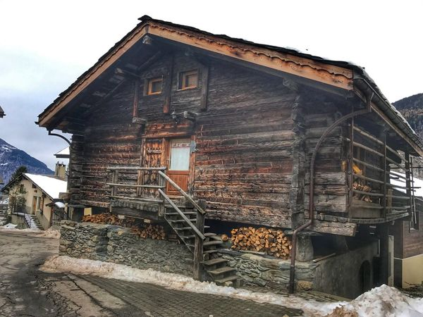 Architecture Built Structure Building Exterior House Residential Building Wood - Material No People Abandoned Sky Outdoors Day wallis switzerland🇨🇭🇨🇭