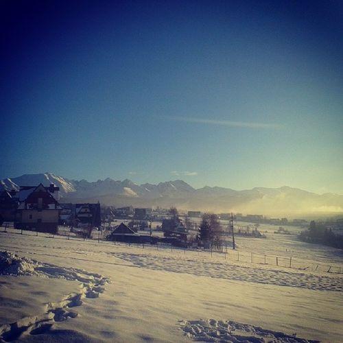 Widoczki Murzasichle Gory ładną Pogoda śnieg Niebo Narty Karczma Zapiekanki Gofry @gabka99