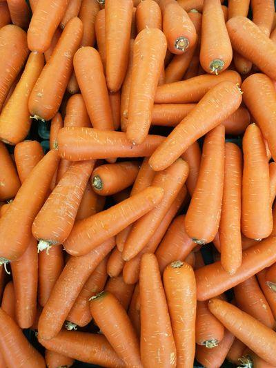 Full frame shot of carrots for sale at market stall