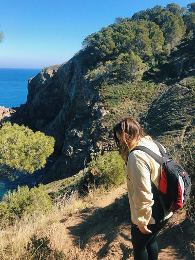El Camí de Ronda Roadtrip Road Walking EyeEm Nature Lover Real People Sunlight Leisure Activity Lifestyles One Person Nature Land Sea Day Shadow Casual Clothing Women Beach Water Adult Plant Beauty In Nature Growth Outdoors