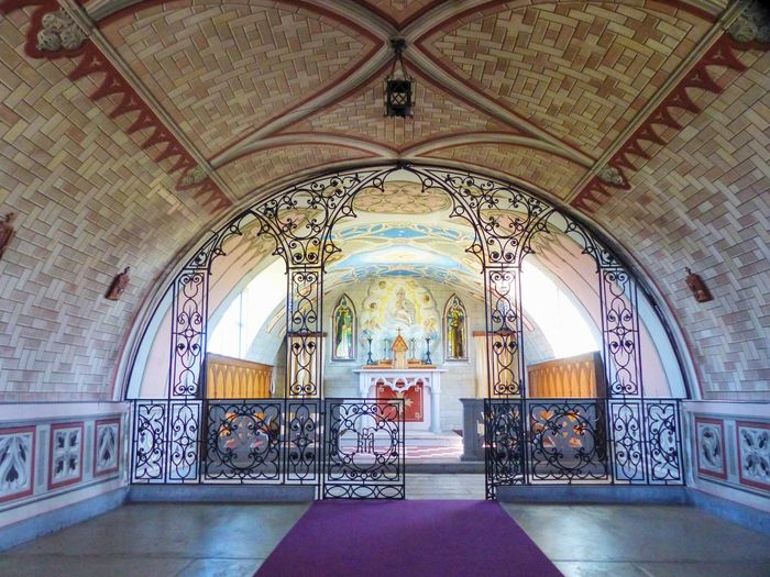 Chapel made from 2 Nissan huts by Italian POWs - so beautiful Arch Architectural Feature Architecture Built Structure Ceiling Chapel Church Corridor Day Design Exquisite Beauty Interior No People Orkney Ornate Simplicity Simplicity Is Beauty. Spirituality Stained Glass