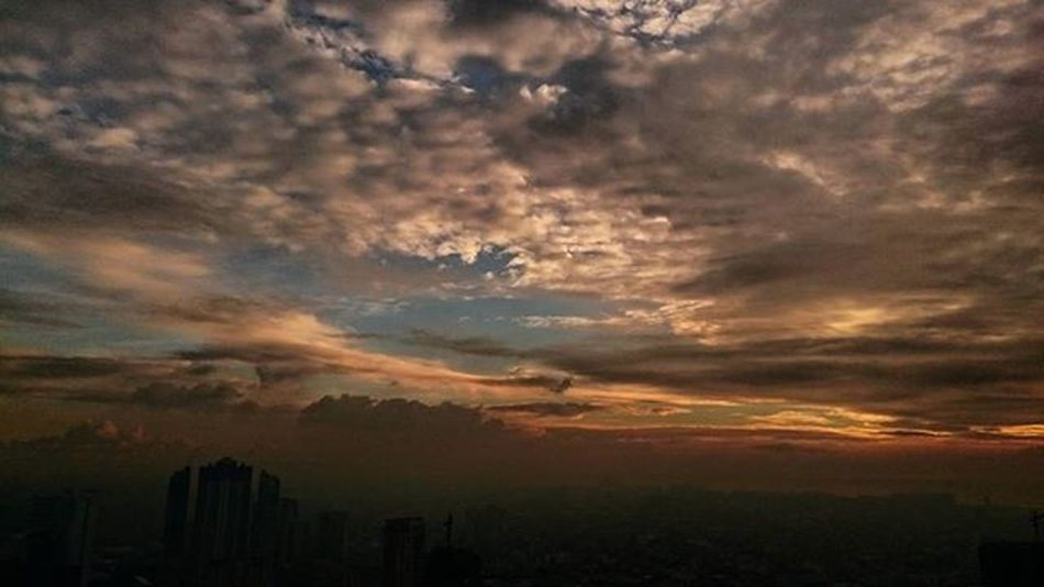02/04/2016 Fog Foggy Foggyday Foggysky Foggyskyline Sunset Foggysunset