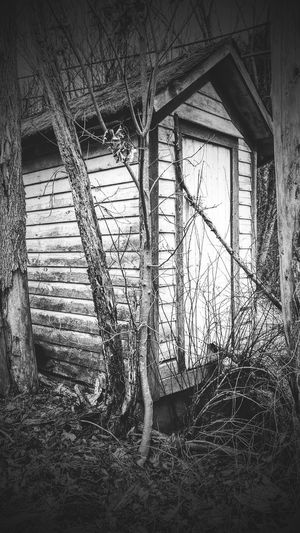 Old outhouse Black And White Close-up country living old days farm Built Structure The Past No People Outdoors Out Building 💩💩💩💩 mom's back yard 💩💩💩💩 EyeEmNewHere Pocono Mts. Pá. The Week On EyeEm