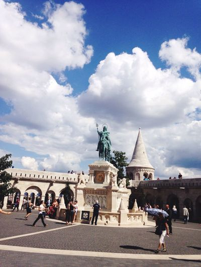 Statue Cloud - Sky Human Representation Large Group Of People Budapest, Hungary Amazing View Picture Of Buda Castle Adventures In The City