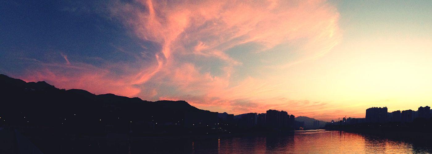 Shatin Landscape Sunset Sky Natural Beauty Clouds