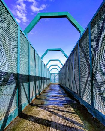 Sky The Way Forward Built Structure Cloud - Sky Architecture Connection Outdoors No People Bridge - Man Made Structure Day Futuristic Nature Elevated Walkway Seaside Ireland Symmetry