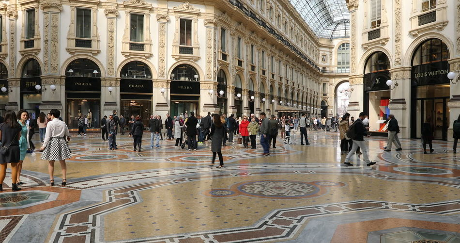MILAN, ITALY- MARCH 7, 2017: Tourists walking and taking pictures with pigeons in Piazza Duomo of Milano fashion city. Ground view of this historic Gothic cathedral. tourists walking for shopping inside the Galleria Vittorio Emanuele II gallery in Piazza Duomo square. Famous fashion stores like Prada. Luxury and shopping concept. Cathedral Church City Duomo DuomoDiMilano Fashion Italia Milan Milan Italy Milan,Italy Milano Milano Italy Square Vittorio Emanuele II Vittorio Emanuele II Gallery Arch Architectural Column Architecture Building Building Exterior Built Structure City Crowd Dome Duomo Di Milano Duomo Square Flooring Galley Group Of People History Italy Italy❤️ Large Group Of People Leisure Activity Milanocity Outdoors Real People Statigram The Past Tiled Floor Tourism Tourist Travel Travel Destinations Women