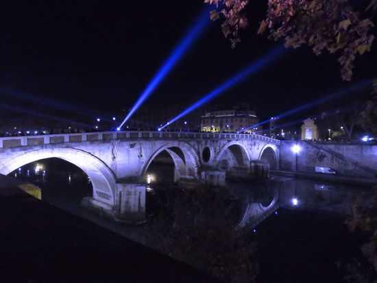 Roma Roma Roma By Night Bridge Tevere