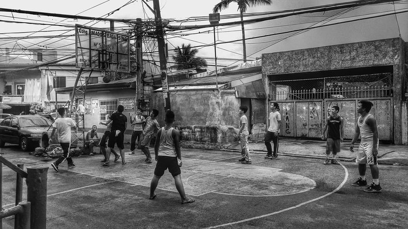 The Game. Black And White Blackandwhite Black & White Blackandwhite Photography Students Streetphotography Streetphoto_bw Eyeem Philippines Streetbasketball Sports Photography