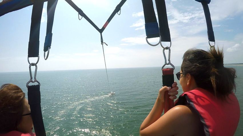 parasailing Adventure Adventure Buddies Adventure Club Atlantic Ocean Enjoyment Excited Fly Flying Flying High Horizon Horizon Over Water Journey Ocean On The Way Outdoors Parachute Parasailing Summer Summer Activity Tourist Travel Destinations Vacation View From Behind Virginia Beach Woman Flying High Women Around The World Live For The Story Place Of Heart Let's Go. Together. Connected By Travel