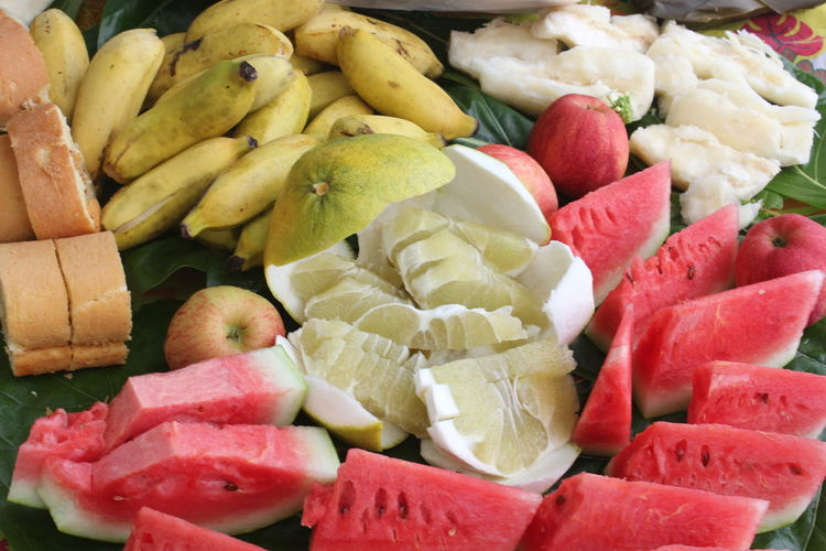 Tropical fruits Bananas Coconut Watermelon