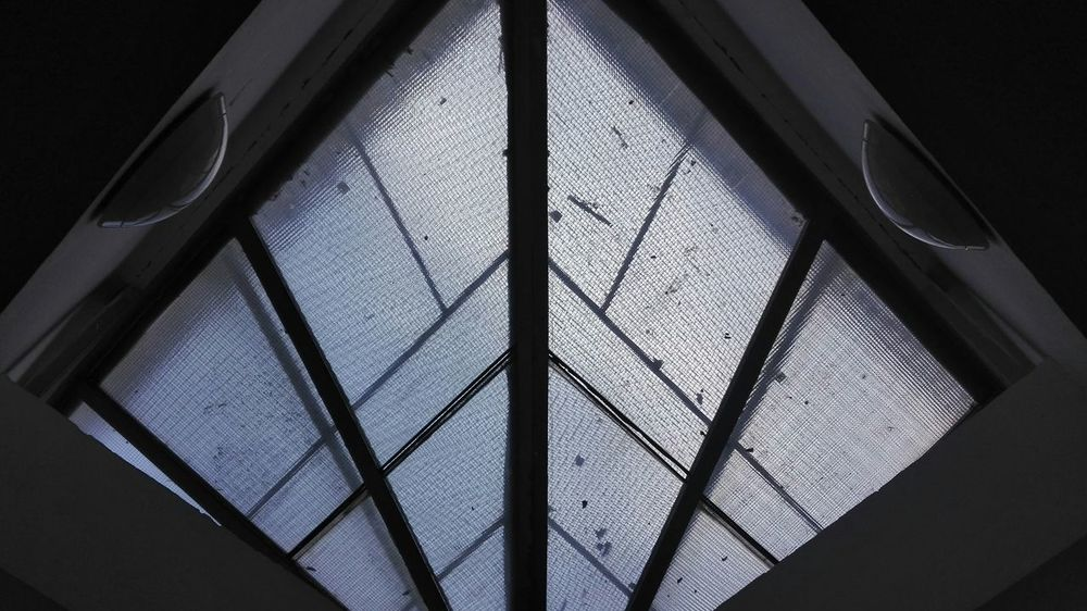 Indoors  Architecture Window Day Roof Built Structure Roof Window Glass Ceiling Ceiling Window