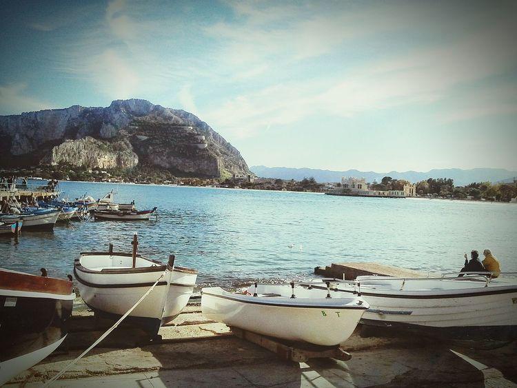 Mondello❤ Tranquil Scene Sea Boats⛵️