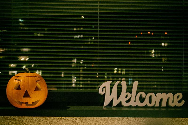 Darkness And Light Halloween Horrors Happy Halloween Pumpkin Sign Welcome