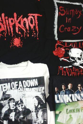 T-shirts Systemofadown Slipknot Linkinpark Bulletformyvalentine