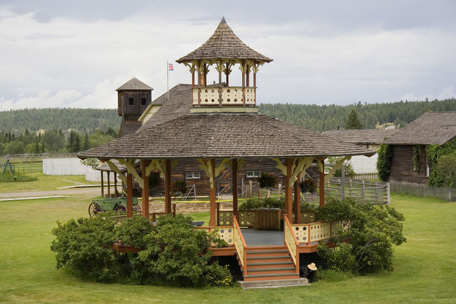 vintage scenery with an ancient pavilion - wooden shingles on the roof Ancient Architecture Architecture Architecture_collection Building Exterior Built Structure Canada Garden Garden Architecture Garden Photography Gazebo High Angle View History No People Old Old Buildings Pavilion Retro Roof Shingle Timber Vintage Wood - Material Wood Shingles Wooden