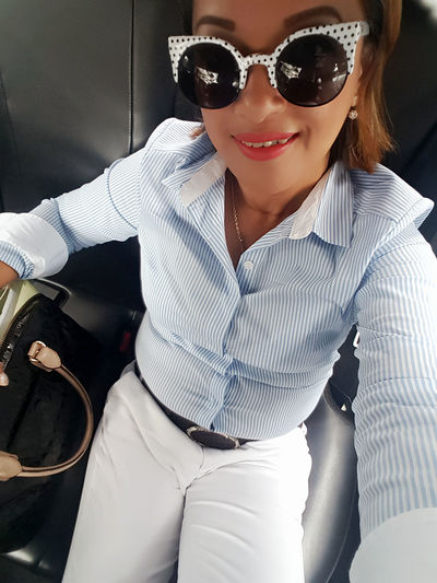 If you know me let's selfie Self Portrait Sunglasses Casual Clothing Looking At Camera Happiness Smiling Lifestyles Belgium Embassy Jakarta, Indonesia Outdoors Jakarta