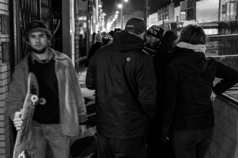 FLASH NEWS- the view from the end of the Line up . Around 2 or 3 hours waiting Streetphotographers Weed Montréal Streetphotography Streetphotography_bw Streetphoto_bw Fujifilm Fujifilm_xseries FUJIFILM X-T2 Fuji Film Streetphoto Photography EyeEm Best Shots Journalism Photography Streetphoto Blackandwhite Photography Crowded Real People Lifestyles Women Leisure Activity Men People Rear View Togetherness City Night
