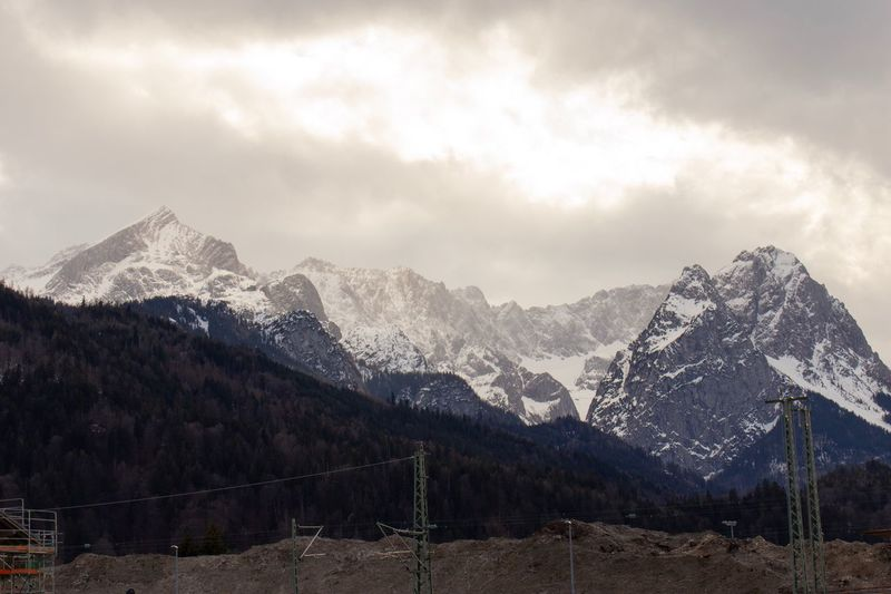 Garmisch Sky Cloud - Sky Mountain Beauty In Nature Mountain Range Scenics - Nature Tree Snowcapped Mountain Tranquil Scene Nature Environment Tranquility Cold Temperature Plant Snow Landscape No People Winter Non-urban Scene Idyllic
