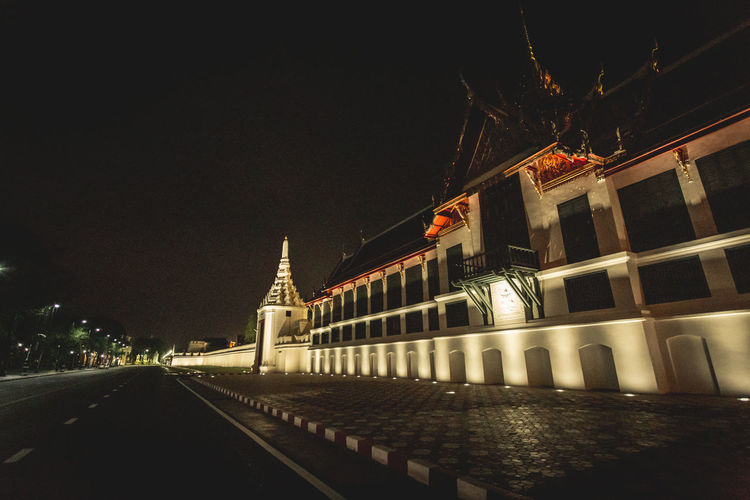 Night Watprasiratana Built Structure Architecture Night Building Exterior Outdoors Night Watprasiratana