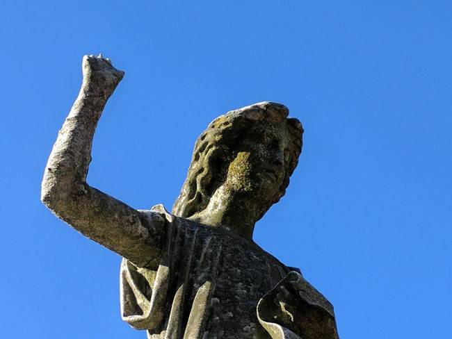 Angel Beauty Blue Sky Brooklyn Cemetery Cemetery Photography Graveyard Green-Wood Cemetery New York City Only The Dead Know Brooklyn Outdoors Power Salute Raised Fist Sculpture Winter