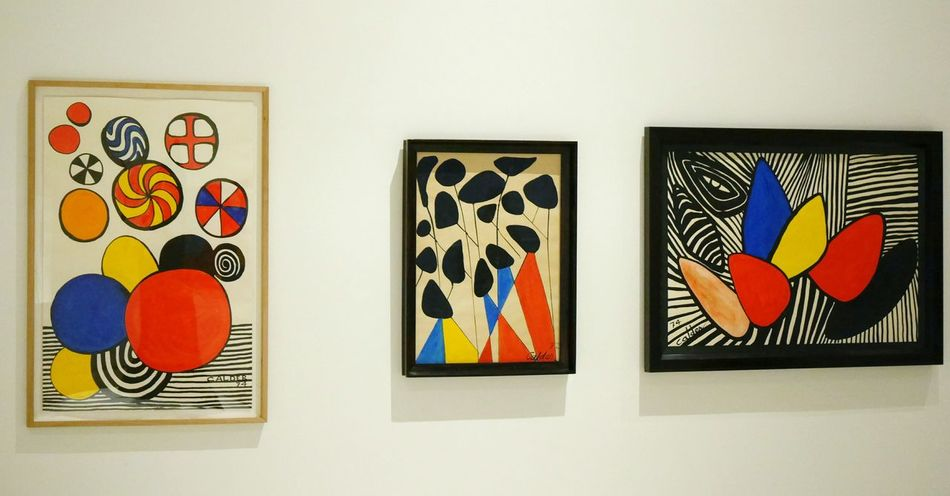 Exposition temporaire Calder au Musee Soulages Rodez - Arts Culture And Entertainment Creativity Modernart Museum Aveyron Rodez Art Abstract Abstrait Abstractart Gouache Painting Painting Gouache Painting Art Geometry Geometric Color Colors Indoors