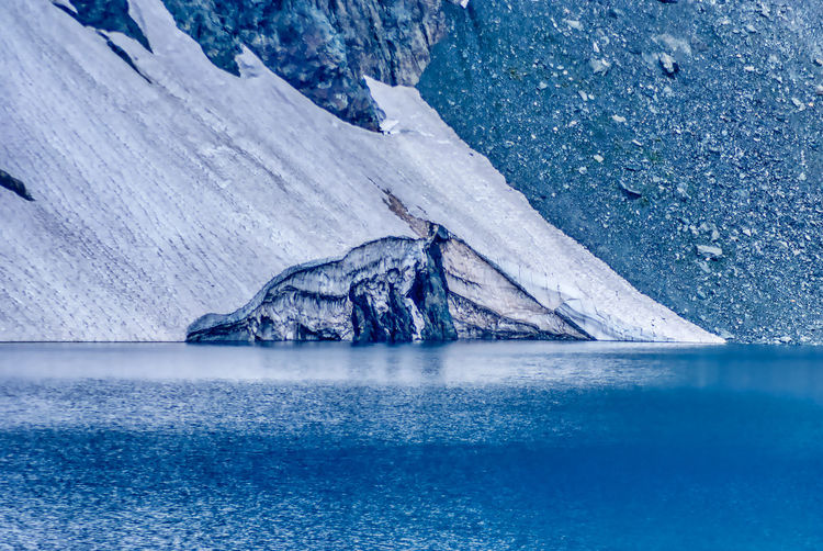 Glacier Glacier Lago Della Rossa Water Ice Blue Cold Temperature Environment Nature Winter Frozen No People Sea Scenics - Nature Snow Tranquil Scene Tranquility Outdoors Beauty In Nature Day Melting Frozen Water Purity Travel Travel Destinations
