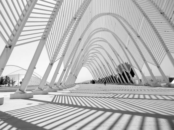 Olympic Sports Complex built by Santiago Calatrava Arch Architecture Athens Bridge - Man Made Structure Built Structure Calatravaarchitecture City Day Greece Indoors  Modern No People Olympic Stadium Pattern The Architect - 2017 EyeEm Awards