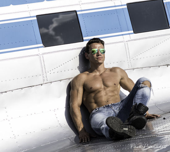 Aircraft Airplane Fitlife Fitman Fitmodel Fitness Lifestyles Portrait Sixpack Topgun First Eyeem Photo