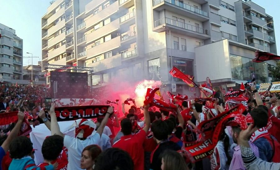 Urbanphotography Photography Photo Of The Day Memories Benfica Champions Tricampeao Football Futebol Pyro Red First Eyeem Photo