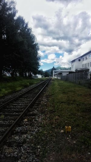 Cloud - Sky Sky Grass Railroad Track No People Day Outdoors Tree Nature Train Station
