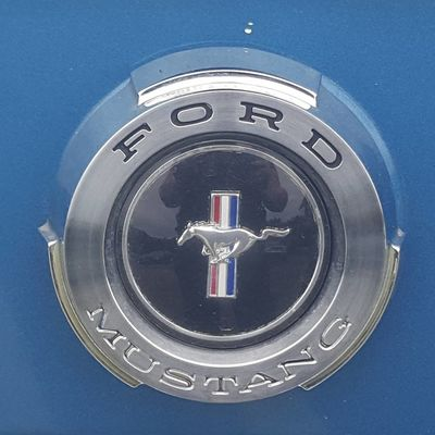Ford Mustang Metal Directly Above Business Finance And Industry Blue Water Close-up No People Sky Outdoors Day Ford Ford Mustang Ford Tough Pony Power Red White And Blue American Muscles