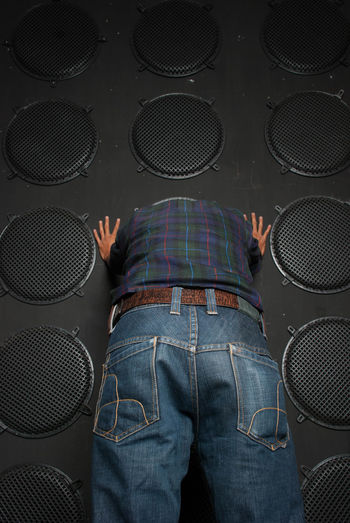 Listen Against The Wall Loud Loud Speaker Fed Up Against Majority