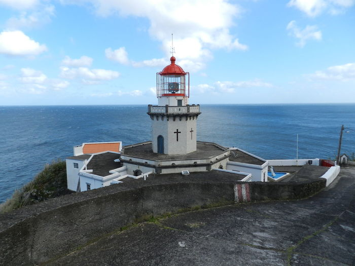 Nearby Nordeste @ Azores (S. Miguel) Azores Azores Islands Nordeste  Portugal Architecture Azores, S. Miguel Beauty In Nature Building Exterior Built Structure Cloud - Sky Day Direction Guidance Horizon Over Water Lighthouse Nature No People Outdoors Scenics Sea Sky Tranquil Scene Tranquility Water