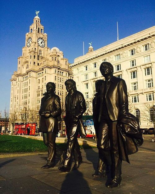 Thebeatles Albertdock Liverpool Rivermersey Ferry Threegraces Liverbird Liverbuilding