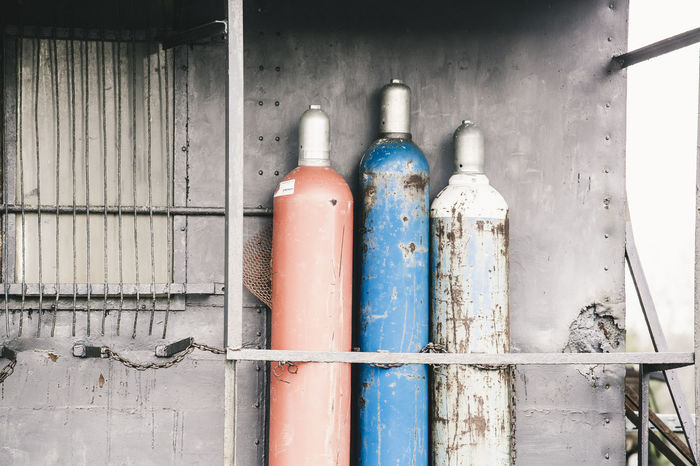 Gas Cylinder Working Abandoned Bottle Close-up Container Equipment Explosive Garden Gas Bottle Gas Canister Metal Old Pipe - Tube Rusty Steel Still Life