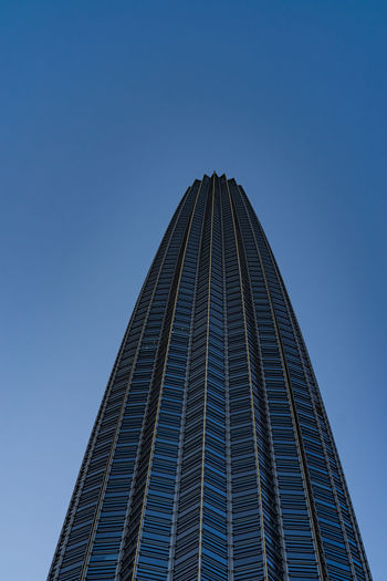 Architecture Built Structure Building Exterior Sky Office Building Exterior Tall - High Low Angle View Skyscraper Clear Sky City Office Building Modern Tower Blue No People Nature Day Copy Space Travel Destinations Outdoors Glass