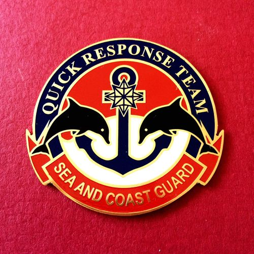 Quick Response Team ISCG Single Object Close-up Red No People Rescue Badge Logo INDONESIA Sea And Coast Guard Sea Comm
