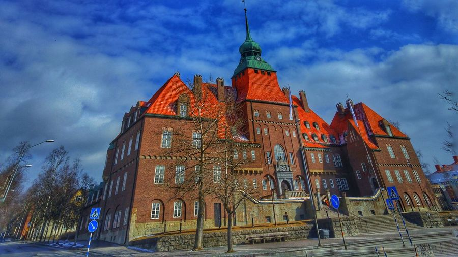 Twisted Architecture Architecture_collection Snapseed Editing  Hdr_Collection Cityhall östersund Funnypictures