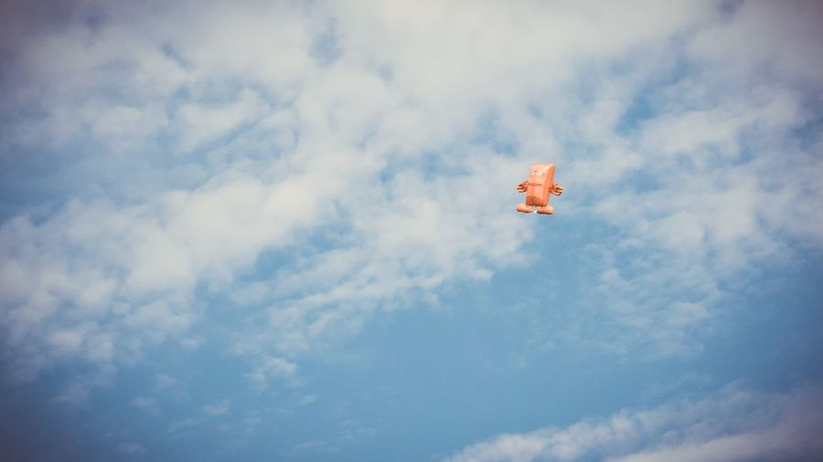 Sky Flying Cloud - Sky Low Angle View Mid-air Day No People Outdoors Nature Airplane Bernd Das Brot